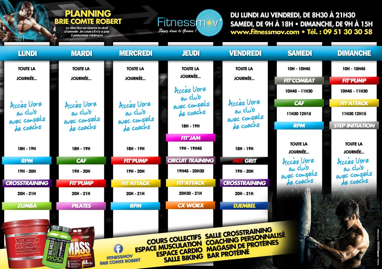 planning fitness mov 39 br tigny salle de sport 91. Black Bedroom Furniture Sets. Home Design Ideas